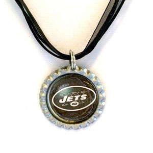 New York JETS Handmade Football Necklace